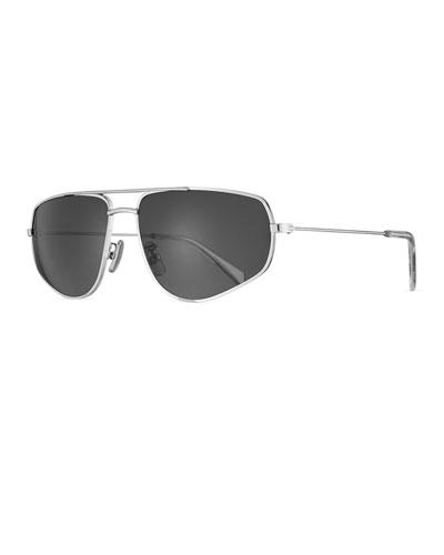 Men's Geometric Rectangle Metal Sunglasses
