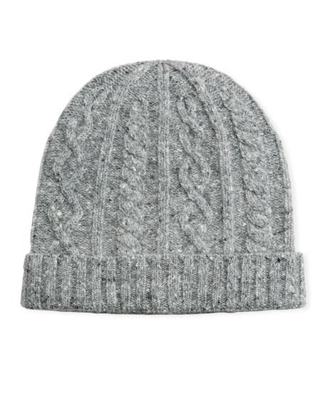 Brunello Cucinelli Men's Cabled Wool-Cashmere Knit Beanie