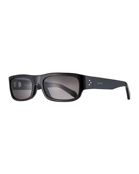 Celine Men's Rectangle Acetate Sunglasses