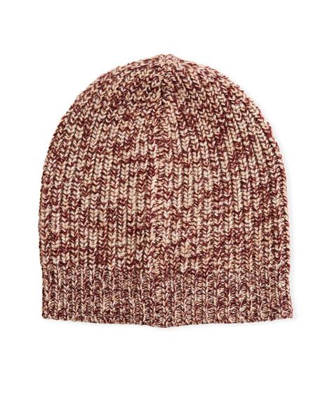 Brunello Cucinelli Men's Cashmere Knit Beanie Hat