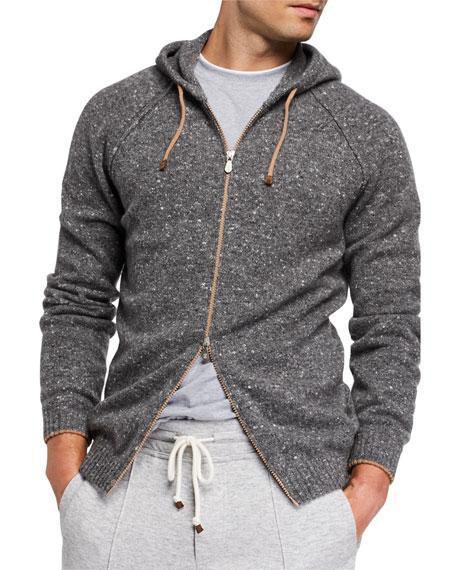 Brunello Cucinelli Men's Wool-Blend Zip Hoodie