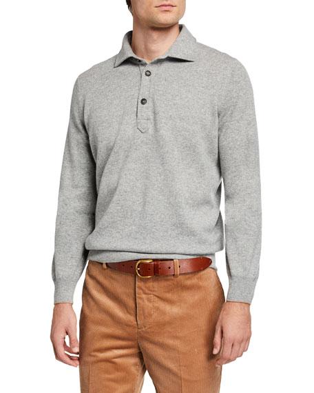 Brunello Cucinelli Solomeo Wool-Blend Polo Sweater