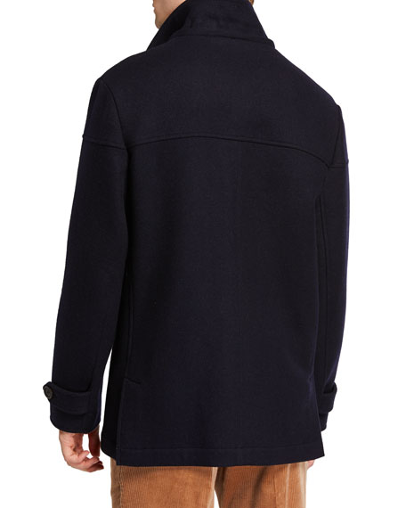 Brunello Cucinelli Men's Wool Paddington Coat