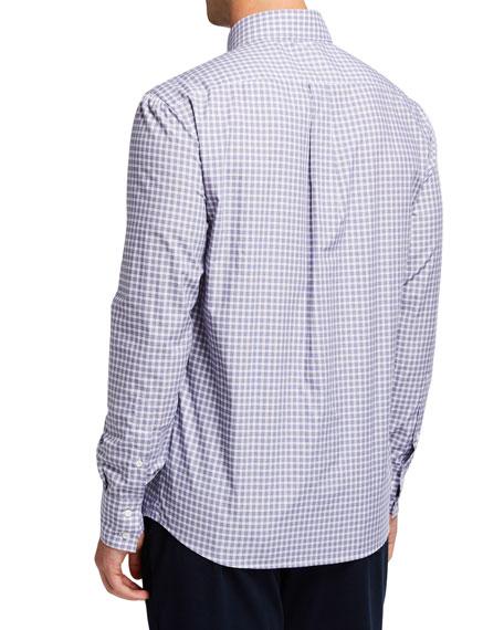 Brunello Cucinelli Men's Check Basic-Fit Sport Shirt
