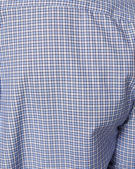 Image 4 of 4: Brunello Cucinelli Men's Basic Fit Check Sport Shirt
