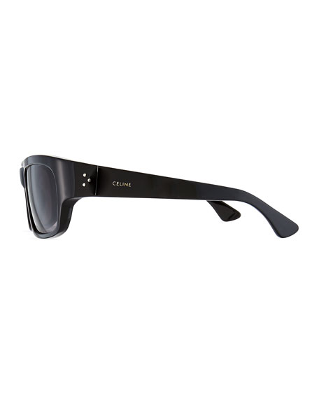 Celine Men's Gradient Rectangle Acetate Sunglasses
