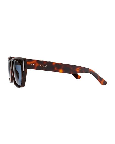Celine Men's Square Tortoiseshell Sunglasses