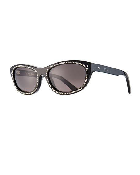 Celine Men's Studded Cat-Eye Sunglasses
