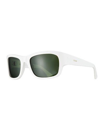 Men's Rectangle Acetate Sunglasses