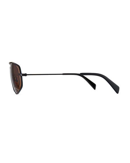Celine Men's Geometric Rectangle Metal Sunglasses