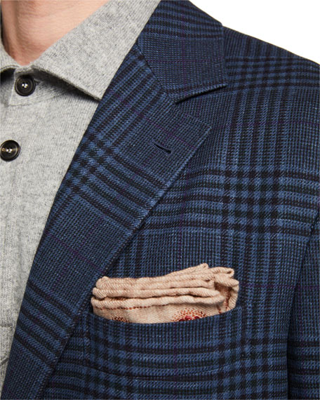 Brunello Cucinelli Men's Plaid Two-Button Jacket