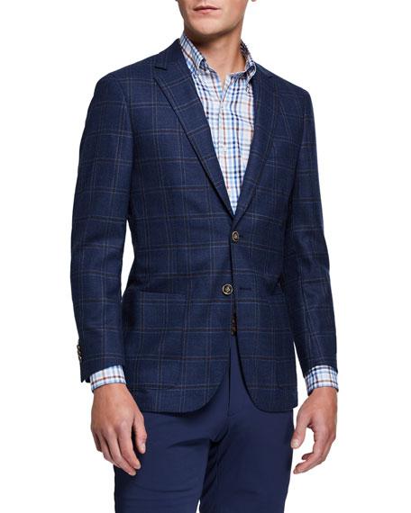 Peter Millar Men's Soft Windowpane Check Jacket
