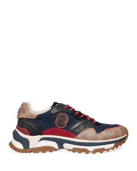 Coach Men's Signature Mixed-Media Dad Sneakers
