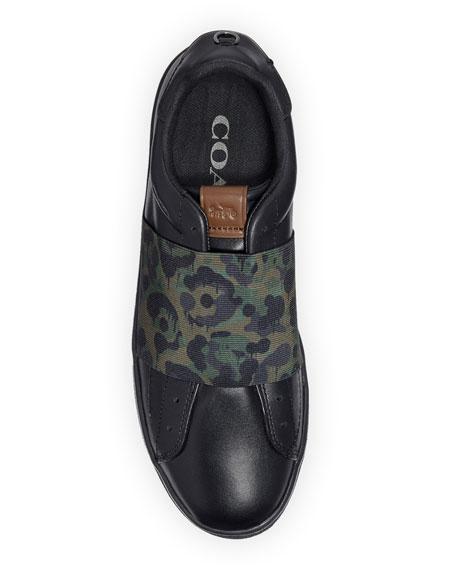Coach Men's Wild Beast Leather Slip-On Sneakers