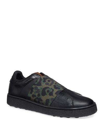 Men's Wild Beast Leather Slip-On Sneakers