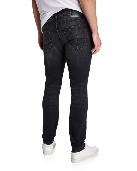 True Religion Men's Tony Black-Wash Skinny Jeans