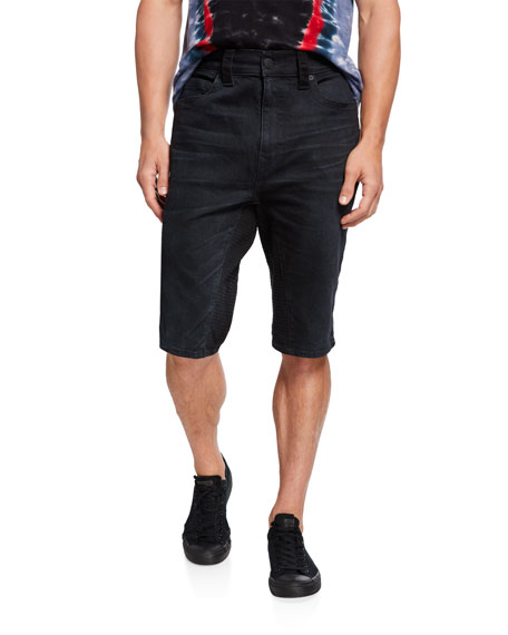 True Religion Men's Marco Whiskered Knee-Length Shorts