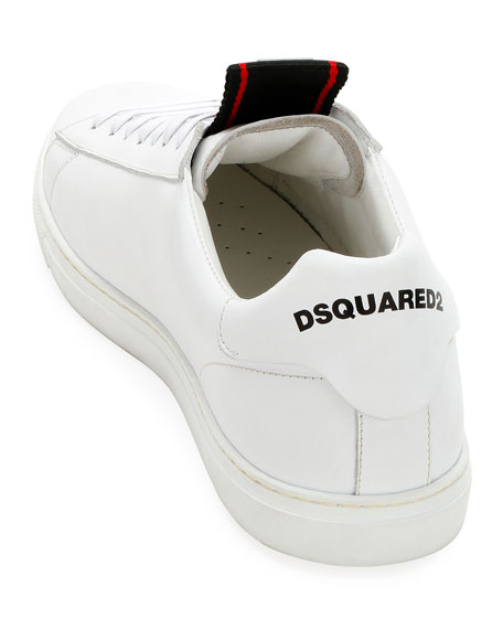 Dsquared2 Men's Leather Logo-Web Trainer Sneakers