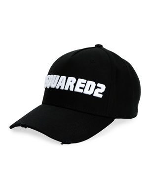 dc9f8e118a816 Dsquared2 Men s Logo-Embroidered Baseball Cap