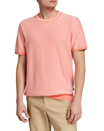 Men's Cotton Short-Sleeve Sweater