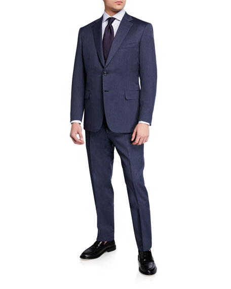 Image 2 of 4: Brioni Men's Solid Wool Two-Piece Suit
