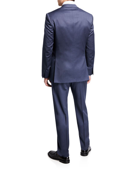 Image 3 of 4: Brioni Men's Solid Wool Two-Piece Suit
