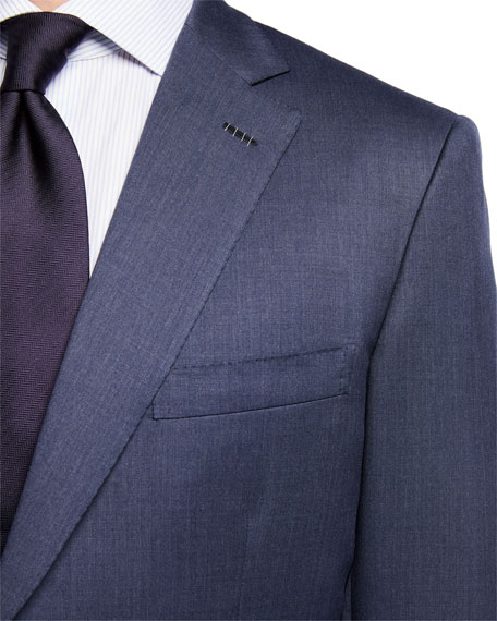 Image 4 of 4: Brioni Men's Solid Wool Two-Piece Suit