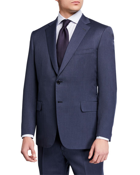Image 1 of 4: Brioni Men's Solid Wool Two-Piece Suit