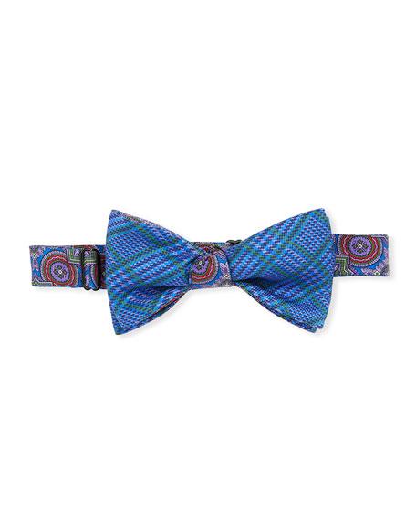 Edward Armah Men's Mash Silk Medallion Bow Tie