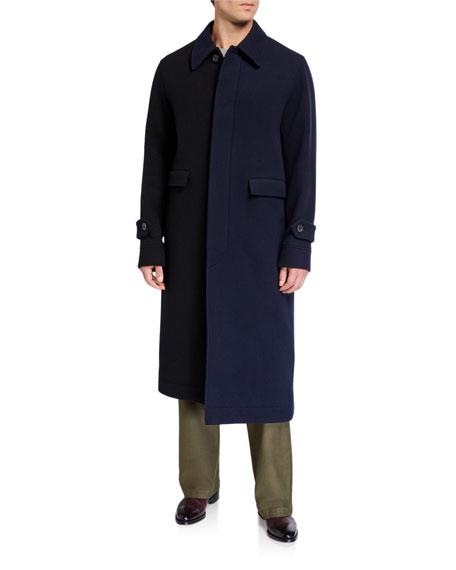 Loewe Men's Asymmetric Wool Coat