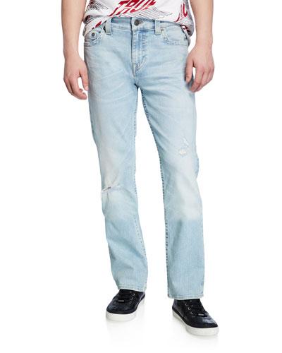 Men's Ricky Worn Blue Tide Straight-Leg Jeans