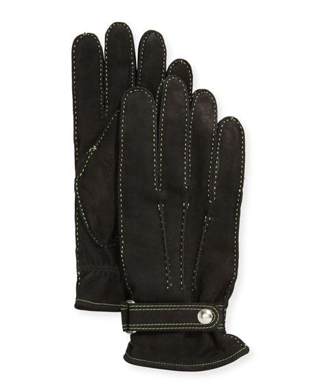 Guanti Giglio Fiorentino Men's Three-Cord Suede Gloves