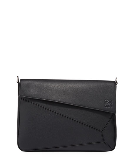 Image 1 of 2: Loewe Men's Puzzle Leather Messenger Bag