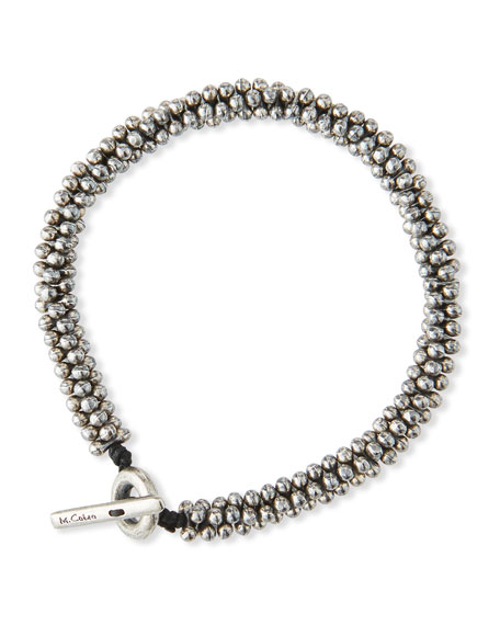 M. Cohen Men's Mini Sterling Silver Jacks Bead Bracelet