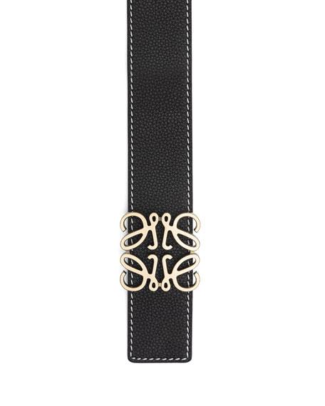 Loewe Men's Anagram Leather Belt