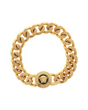57c1741ca50b0a Versace Men's Tribute Medusa Head Textured Link Bracelet