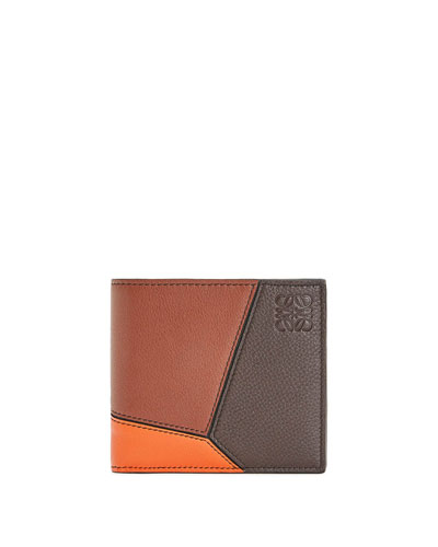 Men's Puzzle Bifold Wallet with Coin Pocket