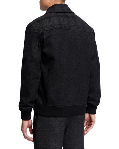 Brioni Men's Plaid Blouson Jacket