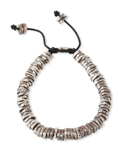 M. Cohen Men's Stacked Oxidized Discs Bracelet