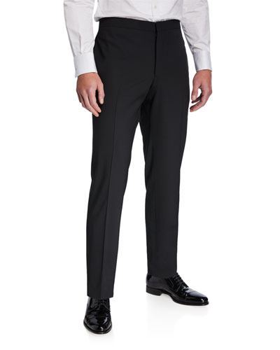 Men's Stretch-Wool Tuxedo Pants
