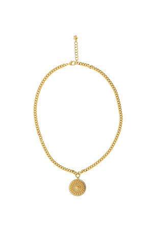 Versace Men's Crystal Medusa Head Pendant Necklace