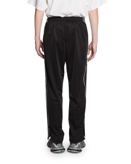 Balenciaga Men's Logo-Taping Track Pants