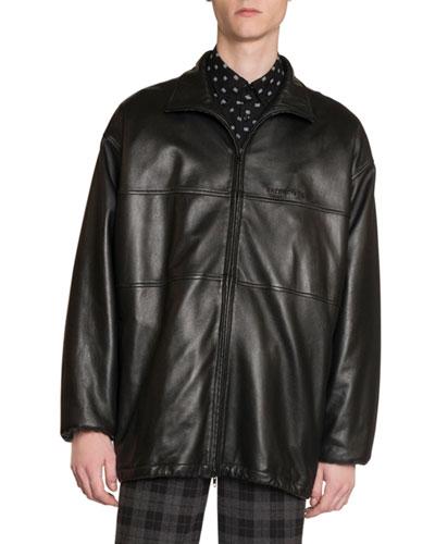Men's Sheepskin Zip-Front Jacket