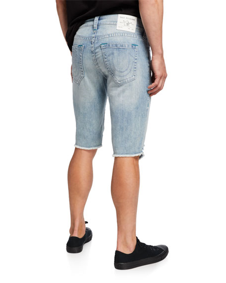True Religion Men's Ricky Distressed Denim Shorts