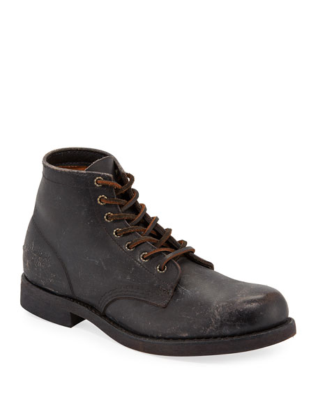 Frye Men's Prison Stone-Washed Leather Boots