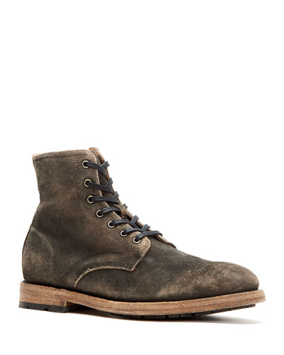 Men's Bowery Suede Lace-Up Boots, Faded Black