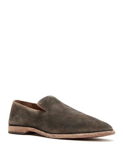 Men's Distressed Leather Venetian Loafers