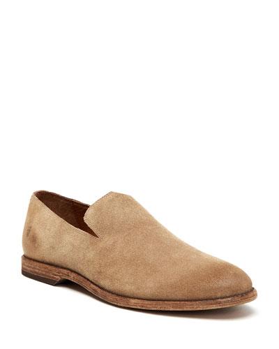Men's Chris Venetian Suede Slip-On Loafers