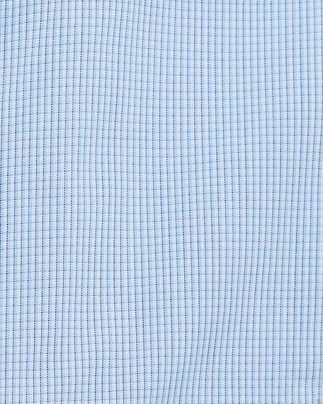 Charvet Men's Mini-Check Cotton Dress Shirt