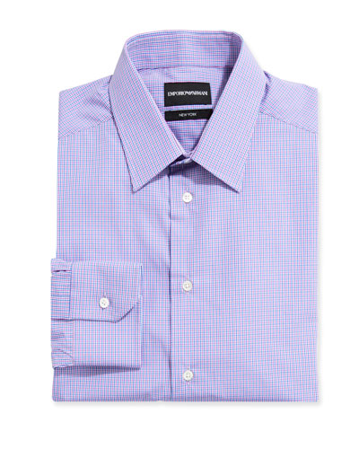 Men's New York Check Cotton Dress Shirt